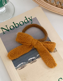 Fashion Bow-turmeric Bow-like Knitted Rabbit Hair Rope