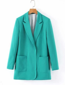 Fashion Green Double Pocket Suit