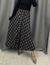 Fashion Black Metallic Tweed Skirt