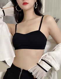 Fashion Black Stitched Contrasting Chest Wrap Back Lingerie
