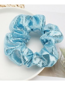 Fashion Blue Small Round Sequin Large Bowel Hair Rope