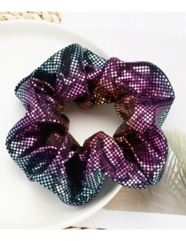 Fashion Purple Blue Small Round Sequin Large Bowel Hair Rope