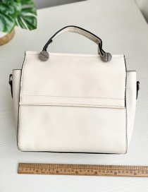 Fashion Off-white Pu Square Shoulder Bag Crossbody Bag