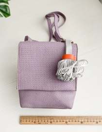 Fashion Purple Pu Fringed Shoulder Crossbody Bag