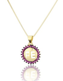 Fashion Gold-plated Diamond Open Letter Necklace