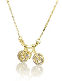 Fashion Gold-plated Gold-plated Bicycle Necklace With Diamonds