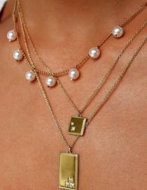 Fashion Golden Multilayered Necklace