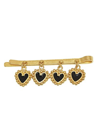 Fashion Black Gold-plated Love Drop Hair Clip