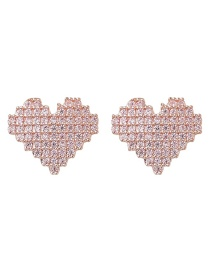 Fashion Golden Love Heart Stud Earrings
