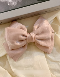 Fashion Pink Double Bow Fabric Hairpin