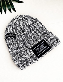 Fashion Black And White Knitted Hat Adult Alphabet
