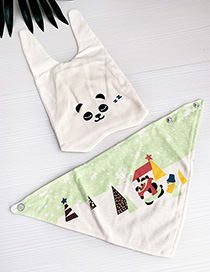 Fashion White Children's Cartoon Hat Bib Suit