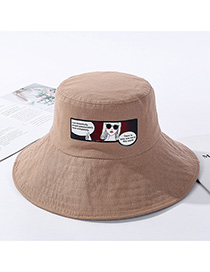 Fashion Khaki Graffiti Cotton Traces Hat
