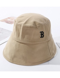 Fashion Khaki Embroidered Letter Bucket Hat