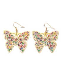 Fashion Color Butterfly Color Stud Earrings
