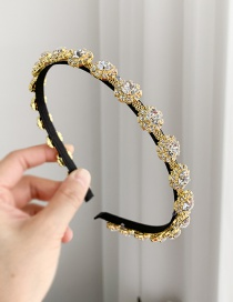 Fashion Golden Alloy Rhinestone Headband