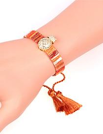 Fashion Brown Micro Inlaid Zircon Pineapple Fringed Bracelet