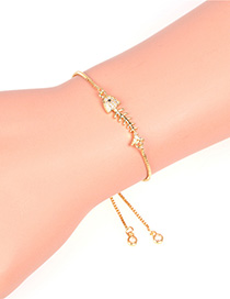 Fashion Golden Fishbone Diamond Geometric Bracelet