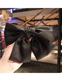 Fashion Black (hairline) Double Bow Double Hair Rope