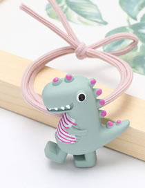 Fashion Gray Little Dinosaur Elastic Resin Knotted Hair Rope