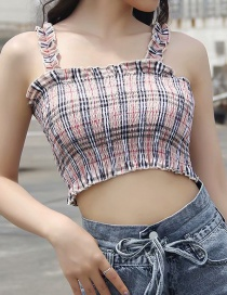 Fashion Pink Funky Gingham Print Camisole