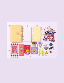 Fashion Ordinary Suit Yellow Checkered Loose-leaf Notebook Stickers Sticky Note Set