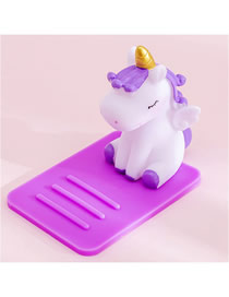 Fashion Purple Unicorn Unicorn Multifunctional Desktop Car Adjustable Mobile Phone Holder