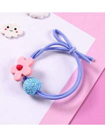 Fashion Hair Circles-pink Flowers Small Flower Ball Tied With Hair Rope