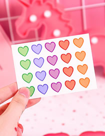 Fashion 3 Small Hearts Love Waterproof Lasting Tattoo Sticker
