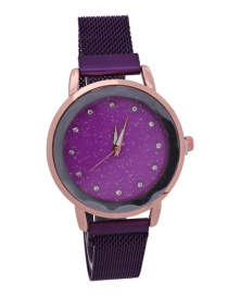 Fashion Purple Stone Suction Star Watch