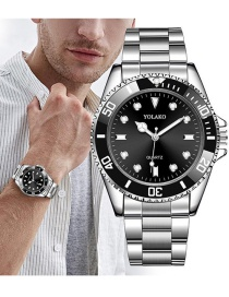 Fashion Black Alloy Steel Band Stainless Steel Watch