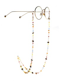 Fashion Golden Colorful Crystal Glasses Chain