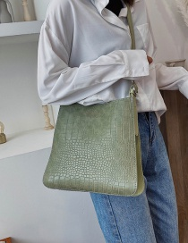 Fashion Green Crocodile Shoulder Crossbody Bag
