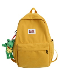 Fashion Yellow Pendant Canvas Label Backpack