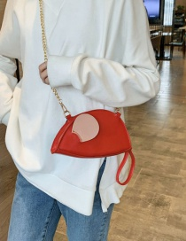 Fashion Red Chain Shoulder Cross-body Bag