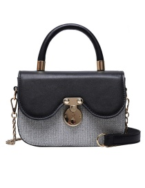 Fashion Black With Silver Chain Shoulder Cross-body Bag