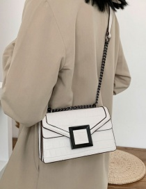 Fashion White Stone Chain Shoulder Bag