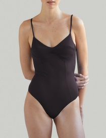 Fashion Crimson Gray Solid Color Paneled Underwire One-piece Swimsuit