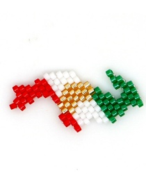 Fashion Color Rice Beads Woven Flag Map Accessories