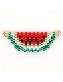 Fashion Red Watermelon Rice Beads Woven Accessories Fruit Pattern Accessories
