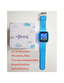 Fashion 501 Touch Screen (blue) Tray 1.44 Waterproof Smart Phone Watch With Touch Screen