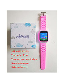 Fashion 501 Touch Screen (pink) Tray 1.44 Waterproof Smart Phone Watch With Touch Screen