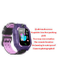 Fashion M6 Touch Screen Swimming Waterproof (purple) Tin Box Packaging 1.44 Waterproof Smart Phone Watch With Touch Screen