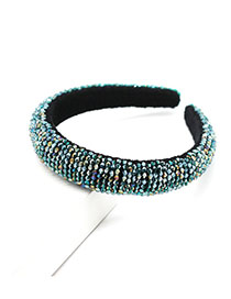 Fashion Green Crystal Beaded Hair Band