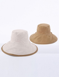 Fashion Beige Cotton Fisherman Hat