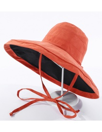 Fashion Orange Fisherman Hat With Double Straps
