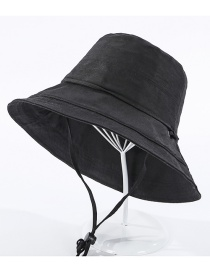 Fashion Black Fisherman Hat With Rope
