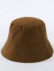 Fashion Brown Fisherman Hat In Solid Color