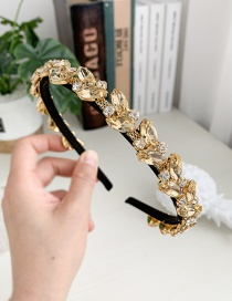 Fashion Yellow Alloy Diamond Drop Headband