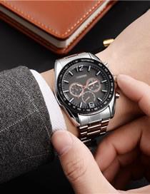 Fashion Black-faced Men's Quartz Watch